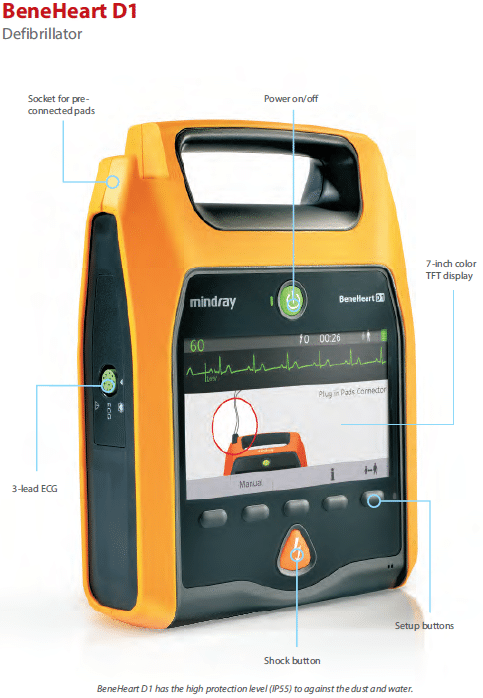 Defibrillator D1 Visual Display